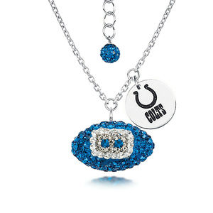 Licensed NFL Indianapolis Colts Football Necklace